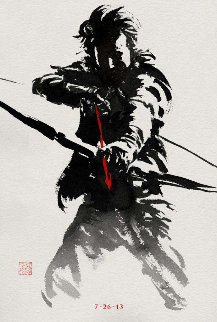 The Wolverine sumi-e poster 2