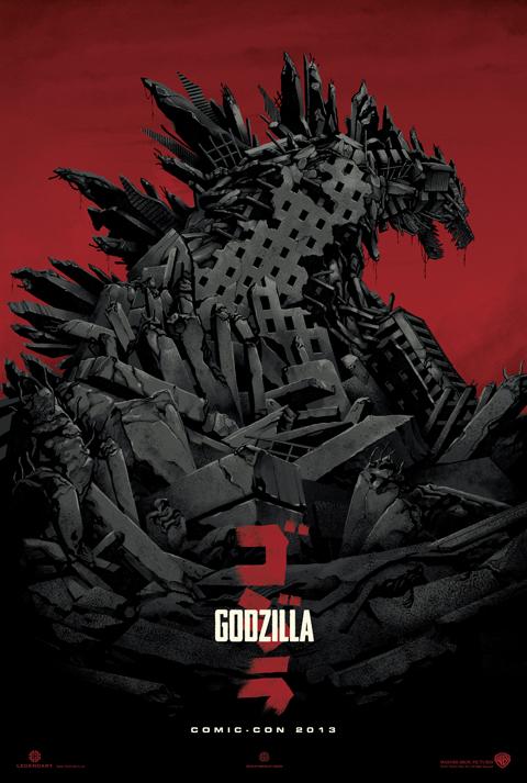 Godzilla Comic-Con 2013 poster Mondo
