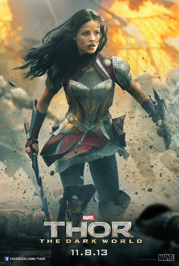Thor The Dark World poster Lady Sif
