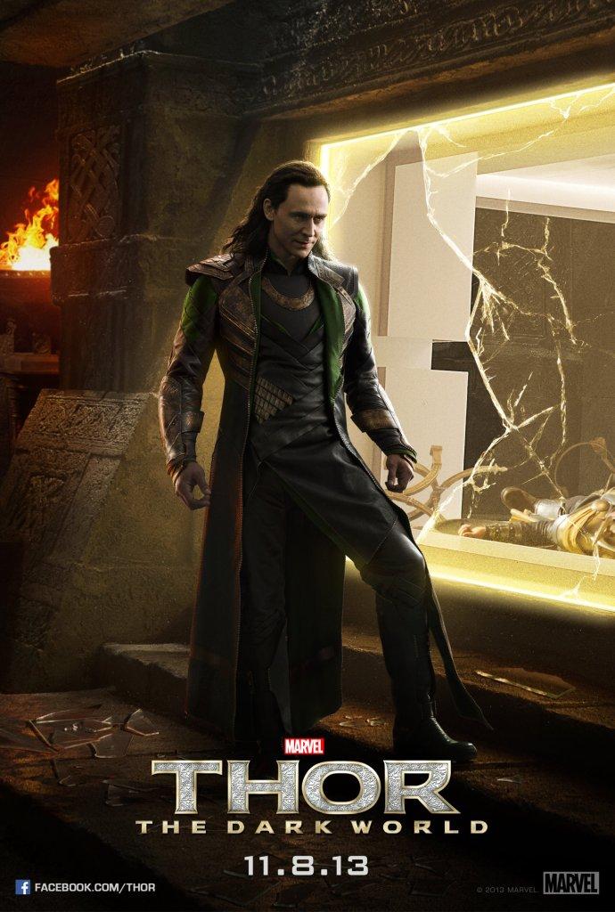 Thor The Dark World poster Loki