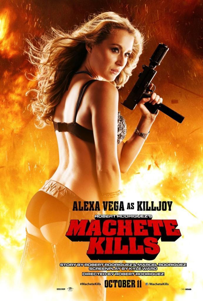 Machete Kills poster Alexa Vega