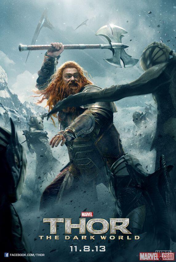 Thor The Dark World poster Volstagg