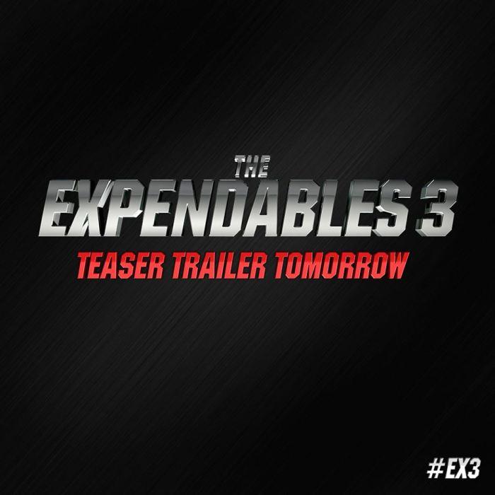 The Expendables 3 teaser trailer logo