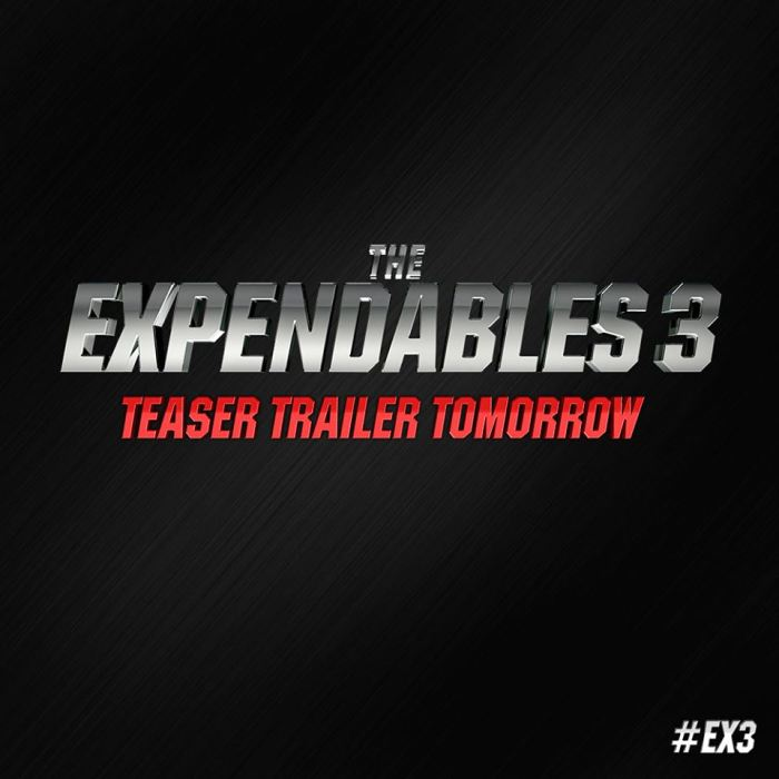 The Expendables 3 teaser trailer logo