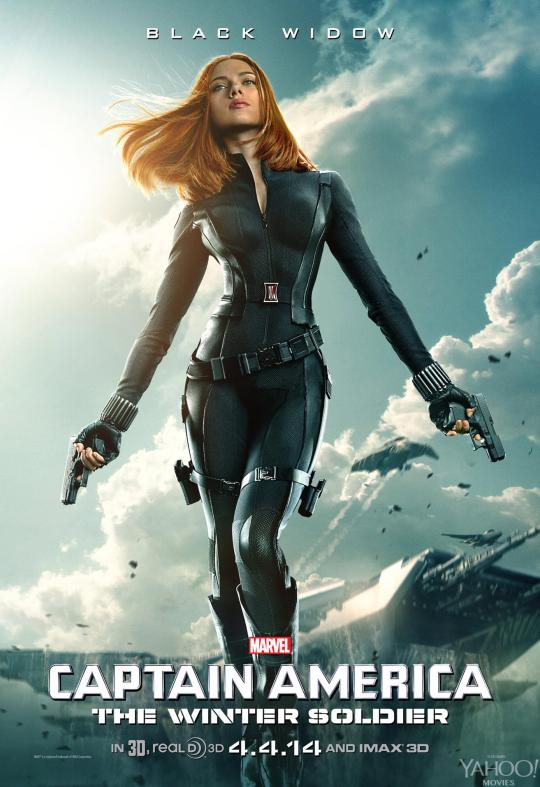 Captain America The Winter Soldier poster Black Widow