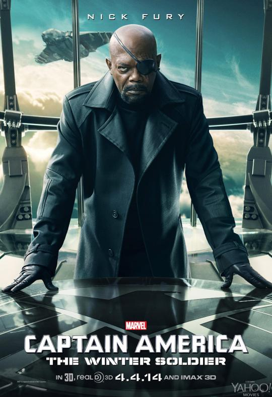 Captain America The Winter Soldier poster Nick Fury
