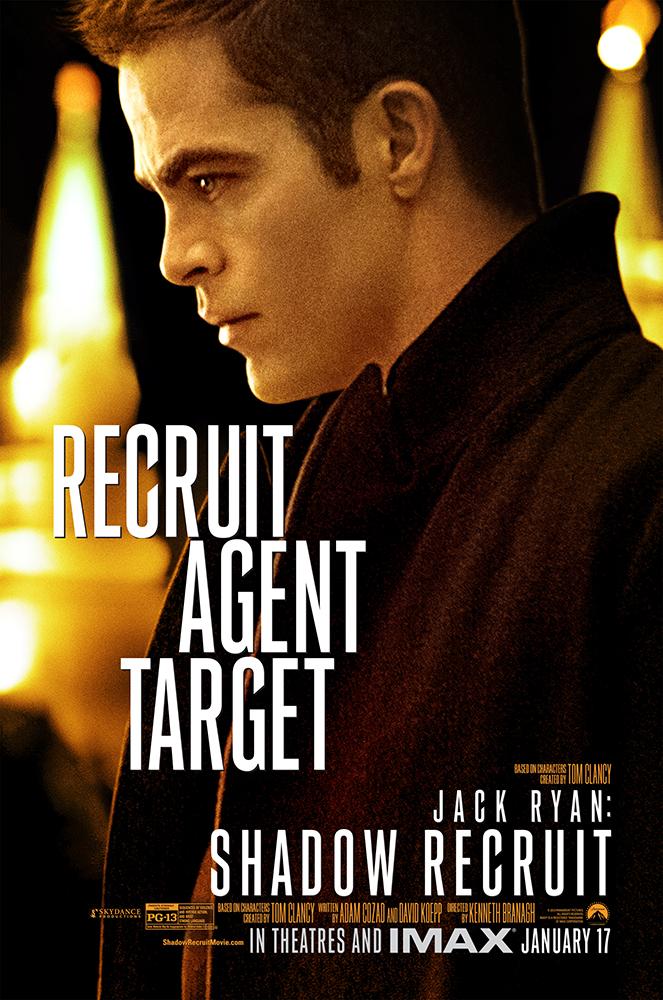 Jack Ryan Shadow Recruit poster Chris Pine