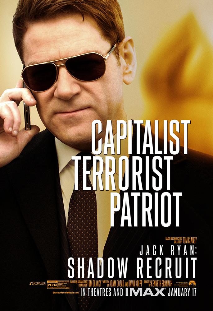 Jack Ryan Shadow Recruit poster Kenneth Branagh