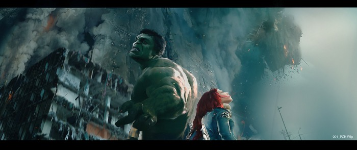 Avengers Age of Ultron concept art Hulk Black Widow