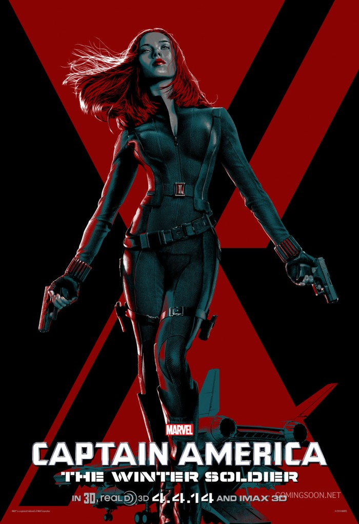 Captain America The Winter Soldier character poster Black Widow