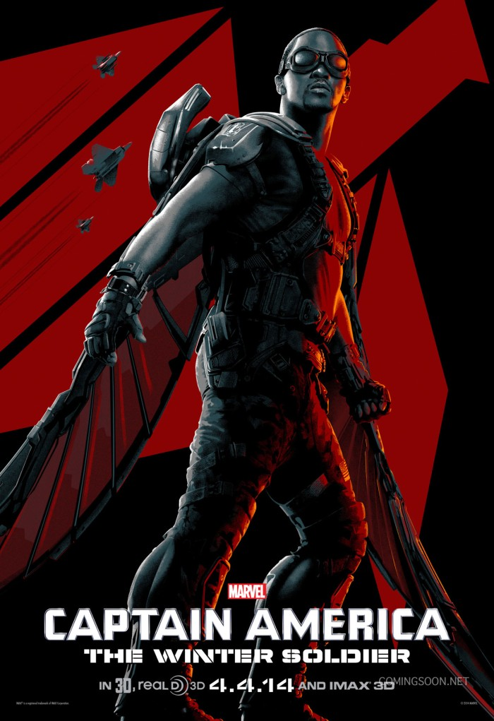 Captain America The Winter Soldier character poster Falcon