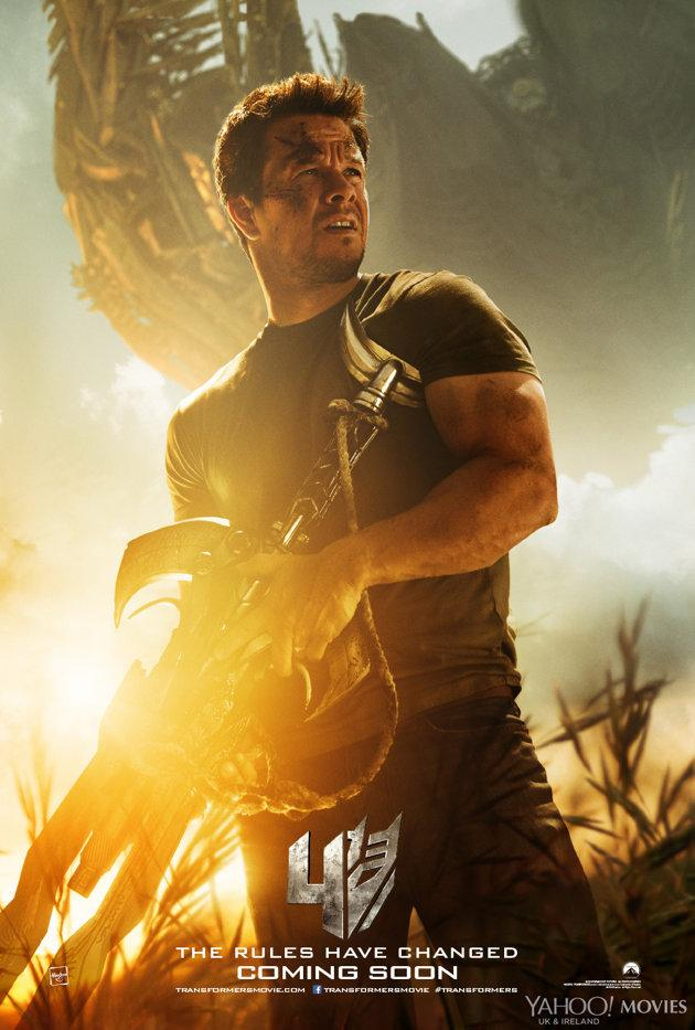 Transformers Age of Extinction poster Mark Wahlberg