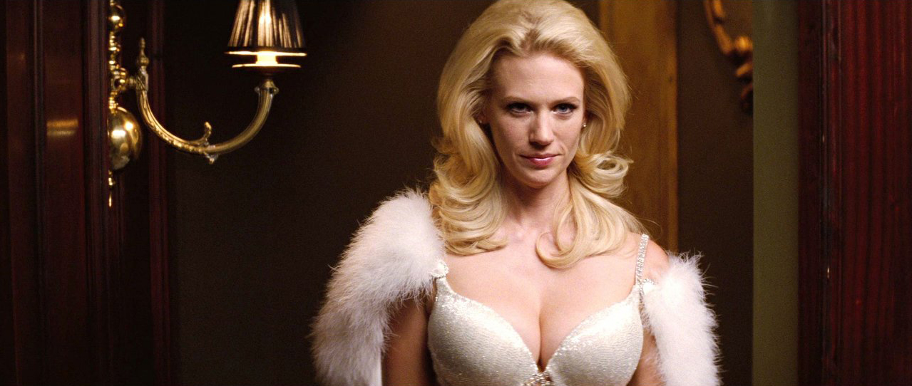January Jones REALLY looked  X Men First Class Banshee Scream