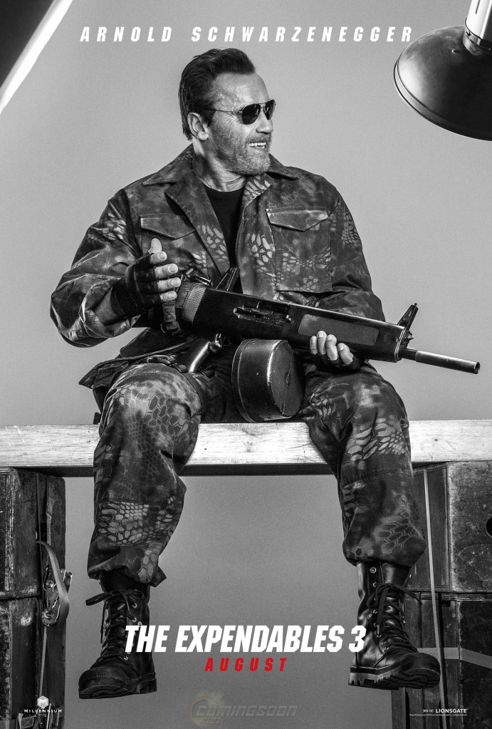 The Expendables 3 poster Arnold Schwarzenegger
