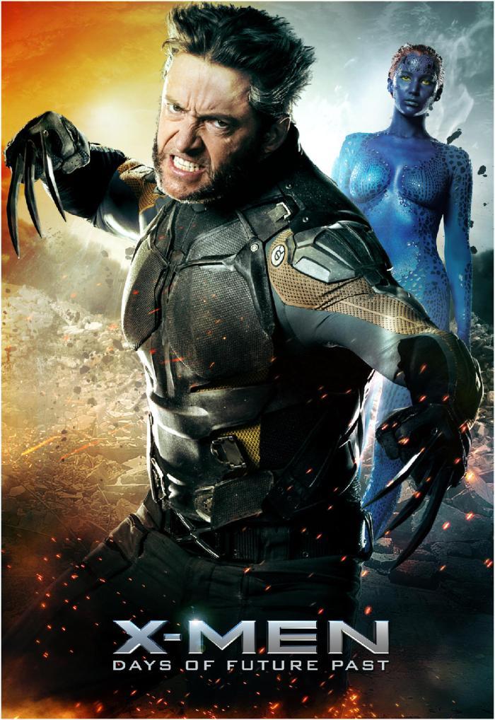 X-Men Days of Future Past poster Wolverine Mystique