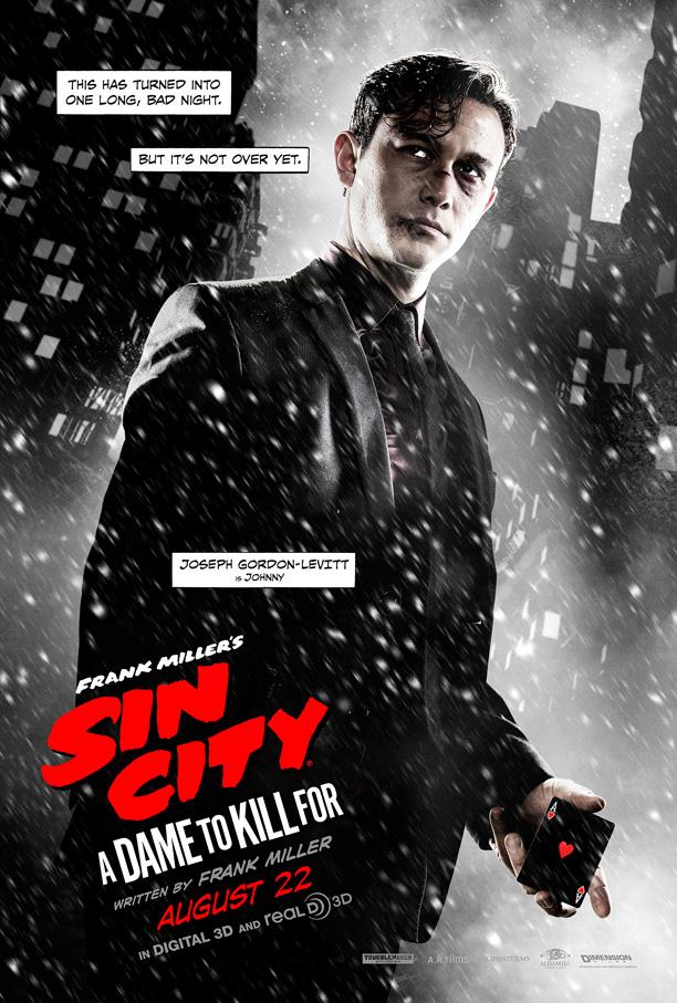 Sin City A Dame To Kill For poster Joseph Gordon-Levitt