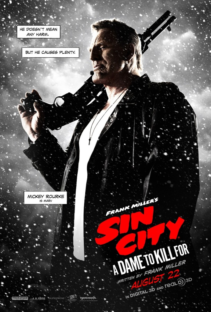 Sin City A Dame To Kill For poster Mickey Rourke