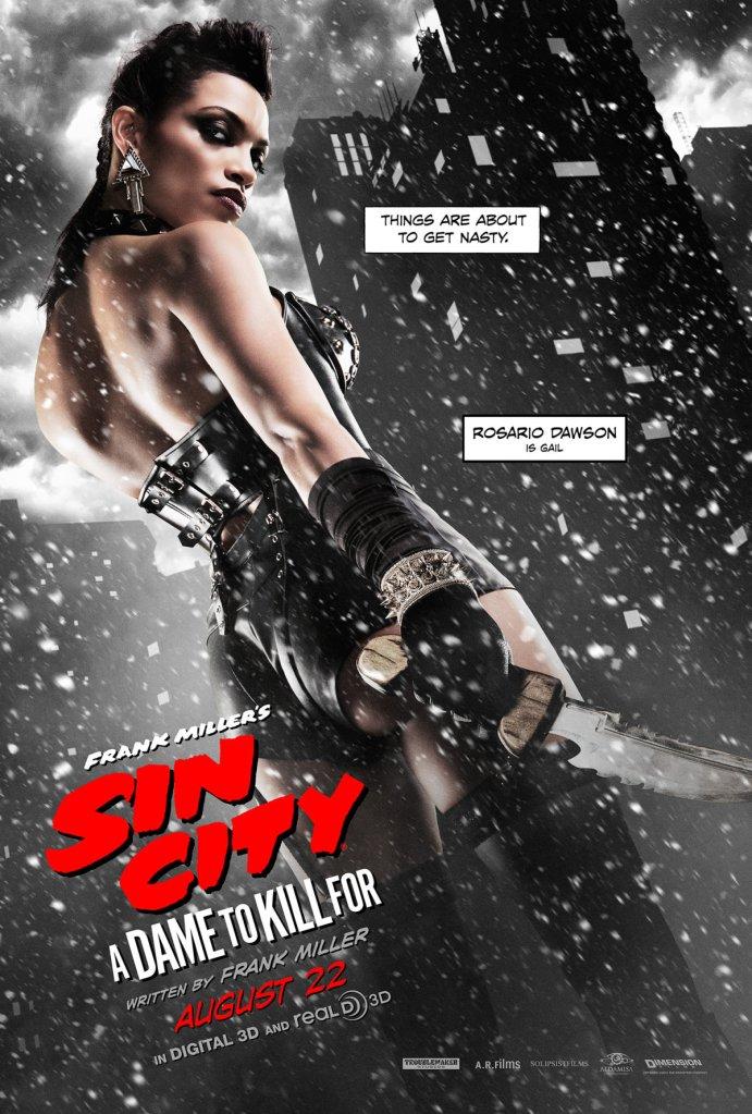 Sin City A Dame To Kill For poster Rosario Dawson