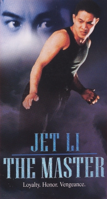 VHS cover for Jet Li's The Master