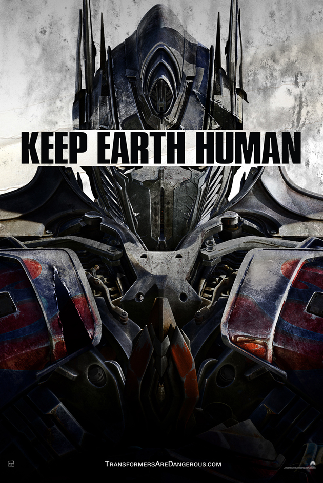 Transformers Age of Extinction promo poster Optimus