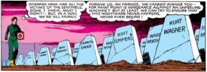 X-Men Days of Future Past comic graves