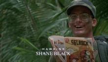 Screencap of Shane Black as Hawkins in Predator