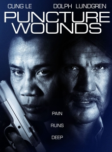 DVD cover for Puncture Wounds starring Cung Le and Dolph Lundgren