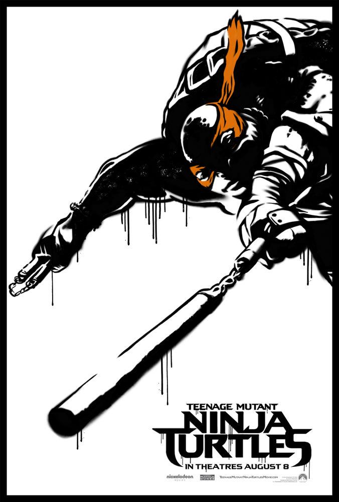 Teenage Mutant Ninja Turtles poster Michaelangelo