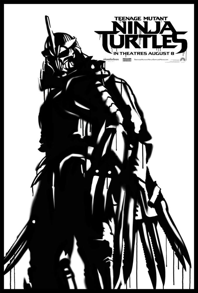 Teenage Mutant Ninja Turtles poster Shredder