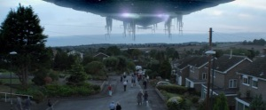 Screencap of alien ship from Alien Uprising movie