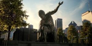 Batman v Superman statue