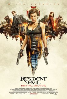 Resident Evil: The Final Chapter movie poster
